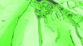 五颜六色的液体小河 绘飞溅 液体流程飞行入照相机 绿色 皇族释放例证