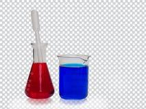 五颜六色的液体试管 库存图片
