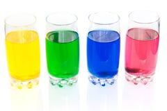 五颜六色的液体 免版税库存照片