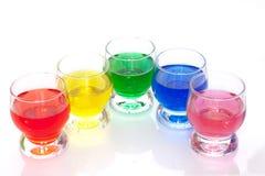 五颜六色的液体 库存图片