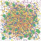 五颜六色的混乱背景 向量例证
