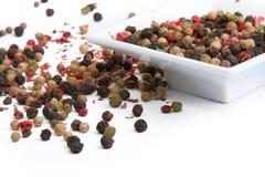五颜六色的混合物干胡椒 免版税库存图片