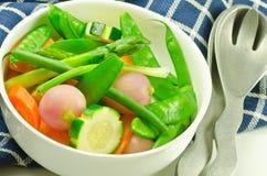 五颜六色的混杂的蔬菜 库存照片