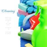 五颜六色的清洁产品 库存照片