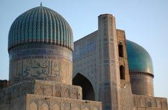 五颜六色的清真寺撒马而罕 免版税图库摄影