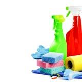 五颜六色的清洁产品 免版税库存图片