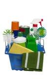 五颜六色的清洁物品 库存照片