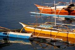 五颜六色的渔船 库存照片