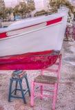 五颜六色的渔船 免版税库存照片
