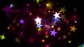 五颜六色的温暖的光亮的星 库存图片