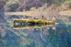 五颜六色的湖在Jiuzhaigou 免版税库存照片