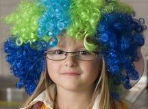 五颜六色的滑稽的女孩假发 库存图片