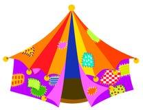 五颜六色的漂泊流浪汉马戏场帐篷 向量例证
