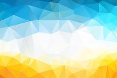 五颜六色的漩涡彩虹多角形背景或传染媒介框架 抽象三角几何背景,传染媒介例证 库存图片