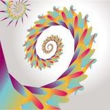 五颜六色的漩涡抽象设计  库存例证