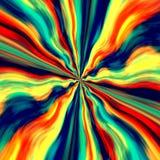 五颜六色的漩涡背景和屏幕保护程序 抽象蓝色橙色生产艺术 街道画喷漆 幻想例证 缩放 库存例证