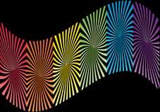 五颜六色的漩涡背景 免版税库存图片