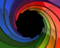 五颜六色的漩涡 库存图片