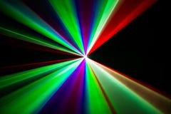 五颜六色的激光束 免版税库存图片