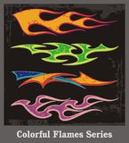 五颜六色的火焰系列 向量例证