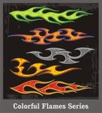 五颜六色的火焰系列 库存例证