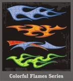 五颜六色的火焰系列 皇族释放例证