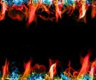五颜六色的火焰 免版税库存照片