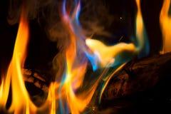五颜六色的火焰 免版税库存图片