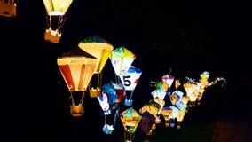 五颜六色的灯笼在台东县 库存图片