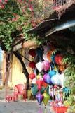 五颜六色的灯笼在的Hoi,越南 免版税库存图片