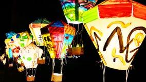 五颜六色的灯笼在福摩萨海岛 免版税图库摄影