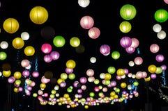 五颜六色的灯笼灯 免版税库存图片