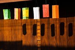 五颜六色的灯笼纸张 库存照片