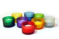 五颜六色的烛台 免版税库存照片