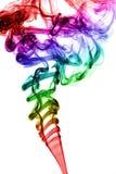五颜六色的烟 免版税库存图片