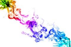 五颜六色的烟 免版税图库摄影