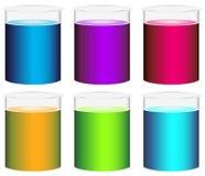 五颜六色的烧杯 免版税库存照片