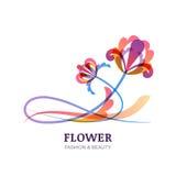 五颜六色的热带花的传染媒介例证 库存例证