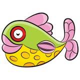 五颜六色的热带鱼动画片 库存图片