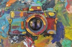 五颜六色的照相机 库存图片