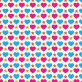 五颜六色的爱和星背景样式 免版税库存照片