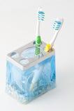 五颜六色的牙刷二 库存照片