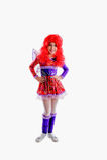 五颜六色的狂欢节服装的女孩 图库摄影