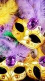 五颜六色的狂欢节面具 免版税库存照片