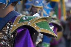 五颜六色的狂欢节(Carnaval)游行细节 免版税图库摄影