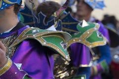 五颜六色的狂欢节(Carnaval)游行细节 库存照片