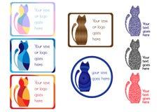 五颜六色的猫标记 免版税库存照片