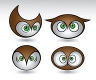 五颜六色的猫头鹰题头 免版税库存图片