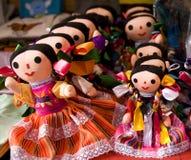 五颜六色的玩偶lupita墨西哥 库存照片