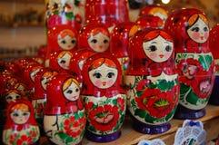 五颜六色的玩偶matroshka俄语 免版税库存图片
